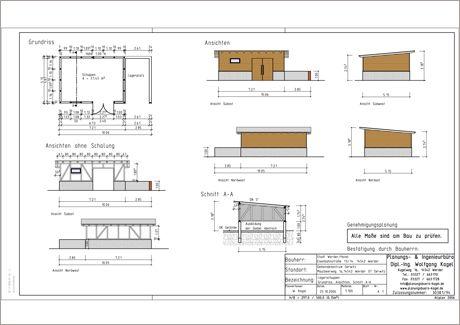 Entwurf Nebengebäudes für die Gemeinde Derwitz