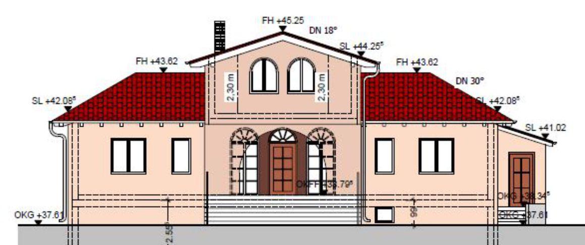 2020 Einfamilienhaus K-L Ansicht NO