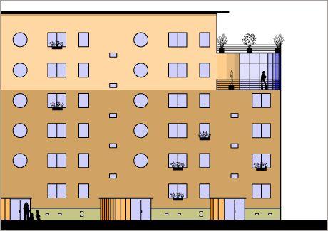 Umbau und Modernisierung von Wohnblocks in Halberstadt 1