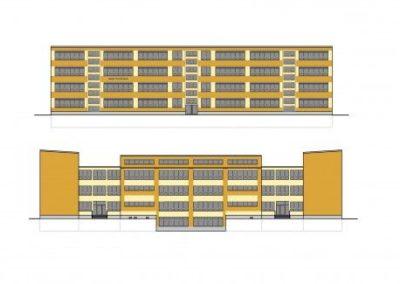 Energetische Fassadensanierung einer Schule